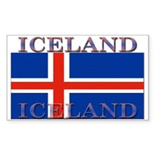 Iceland Rectangle Decal