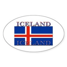 Iceland Oval Decal