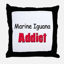 Marine Iguana Addict Throw Pillow