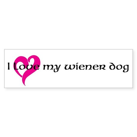 Dachshund Lover Sticker (Bumper)