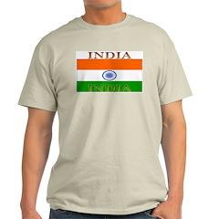India Indian Flag Ash Grey T-Shirt