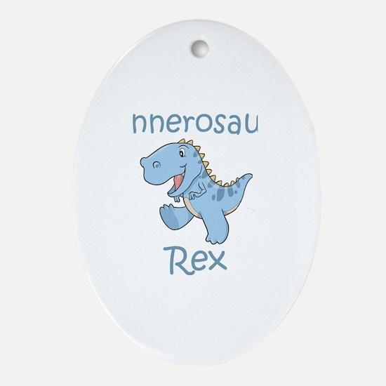 Connerosaurus Rex Oval Ornament