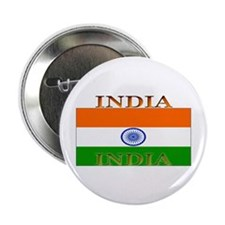 India Indian Flag Button