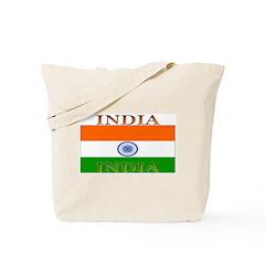India Indian Flag Tote Bag