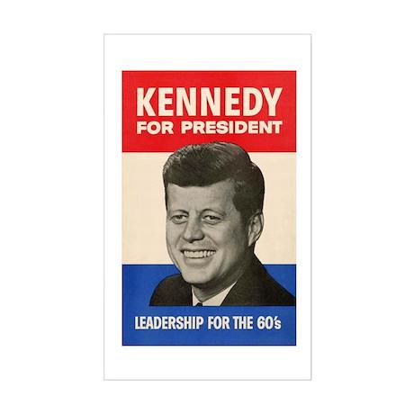 JFK '60 Rectangle Sticker