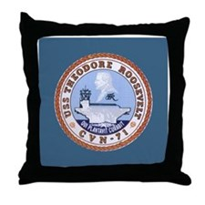 USS Theodore Roosevelt CVN-71 Throw Pillow