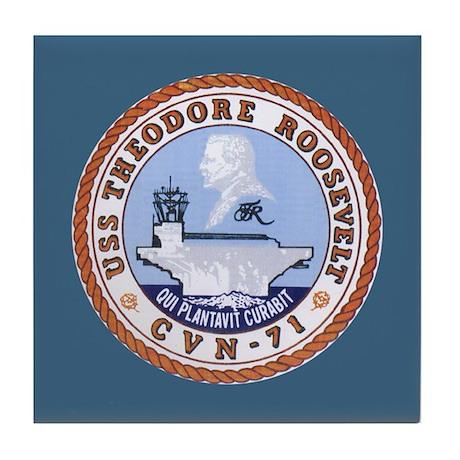 USS Theodore Roosevelt CVN-71 Tile Coaster