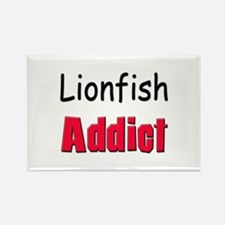 Lionfish Addict Rectangle Magnet