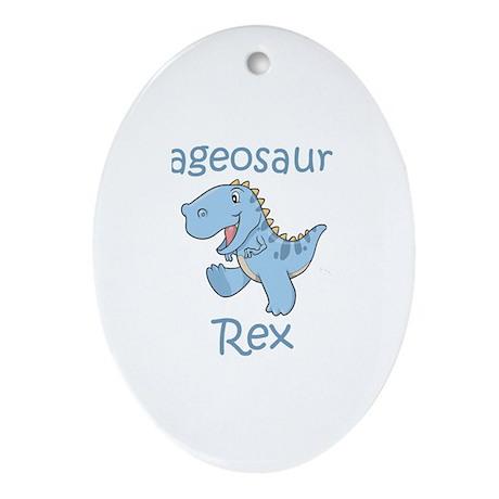 Gageosaurus Rex Oval Ornament