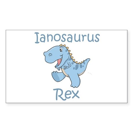 Ianosaurus Rex Rectangle Sticker