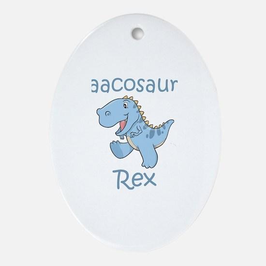 Isaacosaurus Rex Oval Ornament