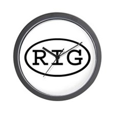RIG Oval Wall Clock