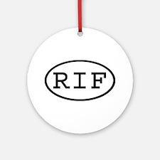 RIF Oval Ornament (Round)