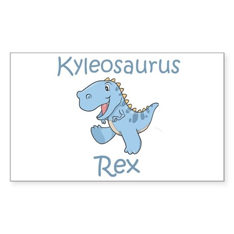 Kyleosaurus Rex Rectangle Sticker