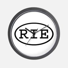 RIE Oval Wall Clock