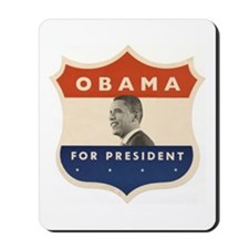 Obama JFK '60-Style Shield Mousepad