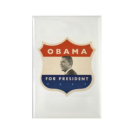 Obama JFK '60-Style Shield Rectangle Magnet