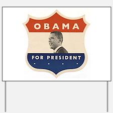 Obama JFK '60-Style Shield Yard Sign