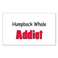 Humpback Whale Addict Rectangle Decal