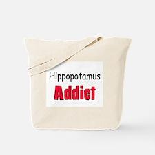 Hippopotamus Addict Tote Bag