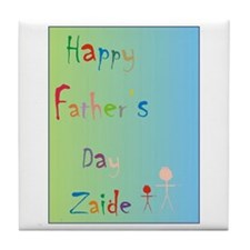 Happy Father's Day Zaide (Eng) Tile Coaster