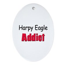 Harpy Eagle Addict Oval Ornament