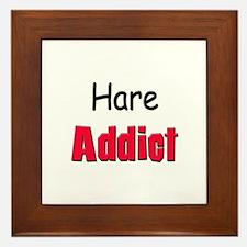 Hare Addict Framed Tile