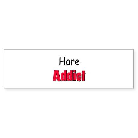 Hare Addict Bumper Sticker