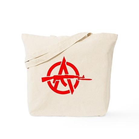 AK-47 Anarchy Symbol Tote Bag