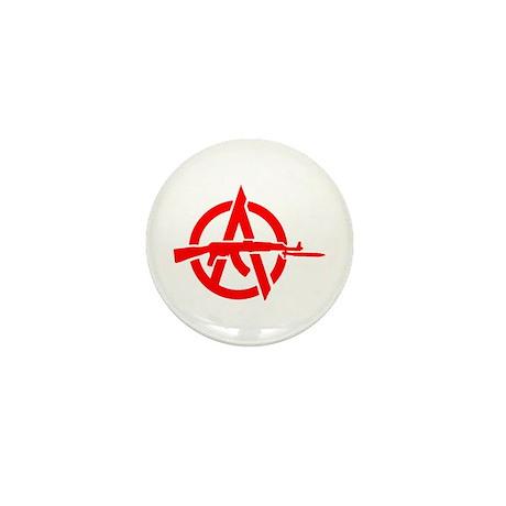 AK-47 Anarchy Symbol Mini Button