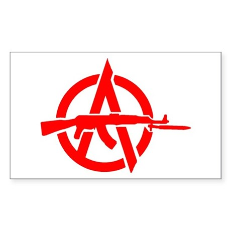 AK-47 Anarchy Symbol Rectangle Sticker