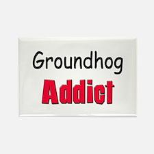 Groundhog Addict Rectangle Magnet