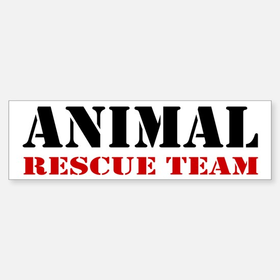 Animal Rescue Team Bumper Car Car Sticker