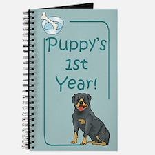 Rottweiler Puppy's 1st Year Journal