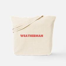 Retro Weatherman (Red) Tote Bag