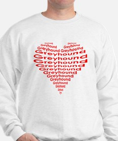 GREYHOUND IN THE HEART Sweatshirt
