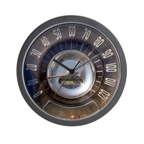 Vintage Speedometer Wall Clock