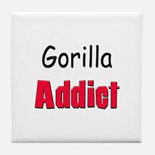 Gorilla Addict Tile Coaster
