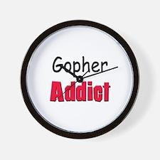 Gopher Addict Wall Clock