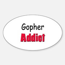 Gopher Addict Oval Decal