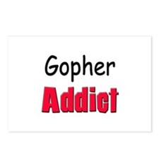 Gopher Addict Postcards (Package of 8)