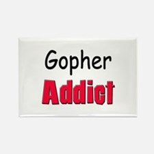 Gopher Addict Rectangle Magnet