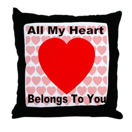 Everlasting Love Heart Throw Pillow