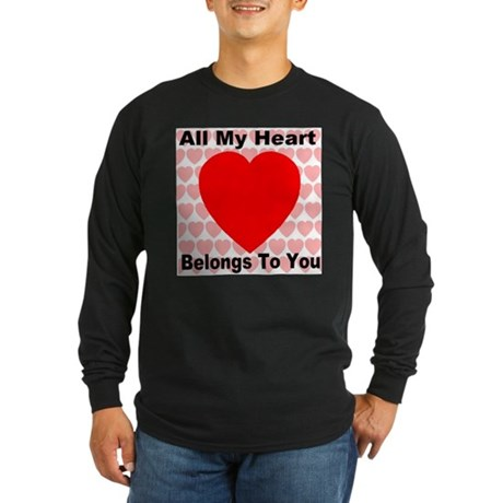Everlasting Love Heart Long Sleeve Dark T-Shirt