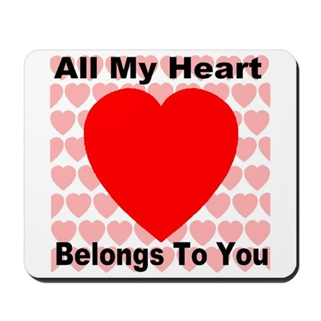 Everlasting Love Heart Mousepad