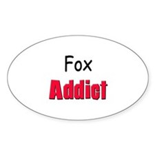 Fox Addict Oval Decal