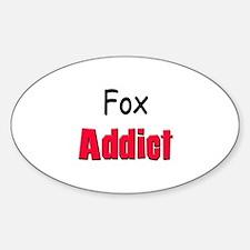 Fox Addict Oval Decal