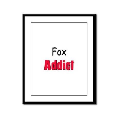 Fox Addict Framed Panel Print