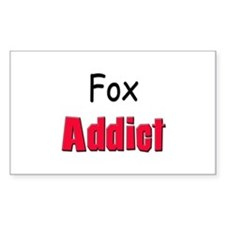 Fox Addict Rectangle Decal