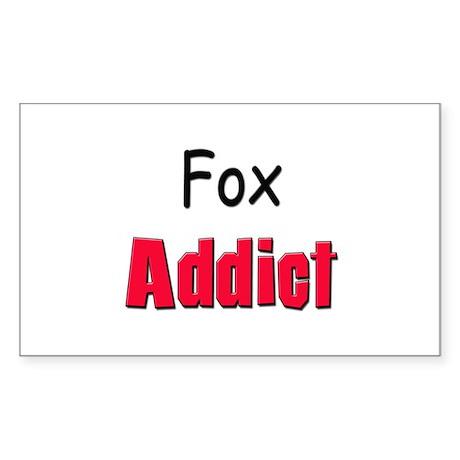 Fox Addict Rectangle Sticker